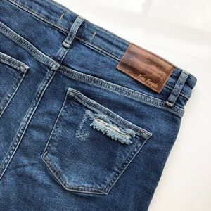 Free People Jeans - FREE PEOPLE Color Block Crop Jeans